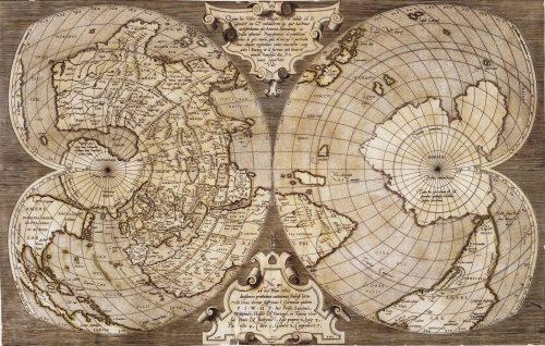Carte ancienne du monde