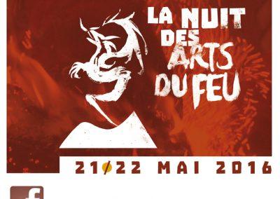 Page Facebook de la Nuit des Arts du Feu (2016)